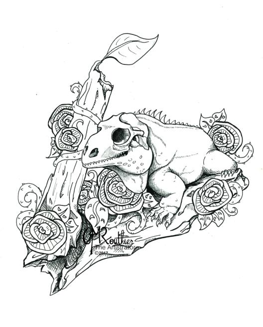 2017_I-is for Iguana_CMRouthier